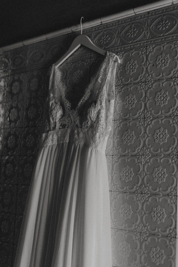Brautkleid am Kleiderhaken