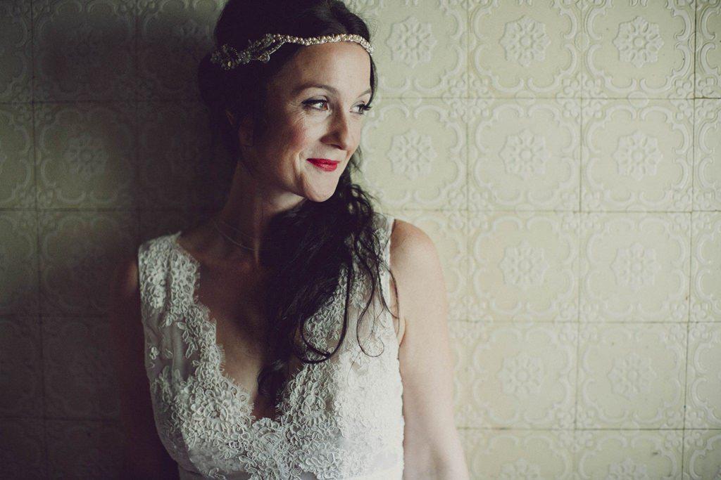 Portrait der lächelnden Braut