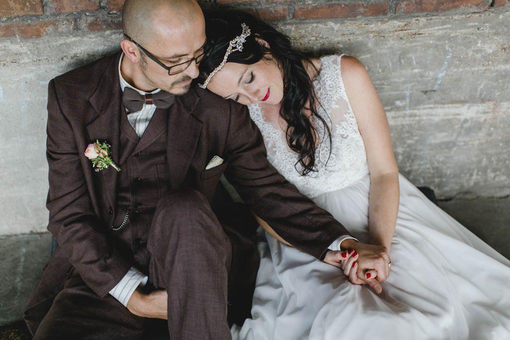Paarfoto des frisch verheirateten Brautpaares