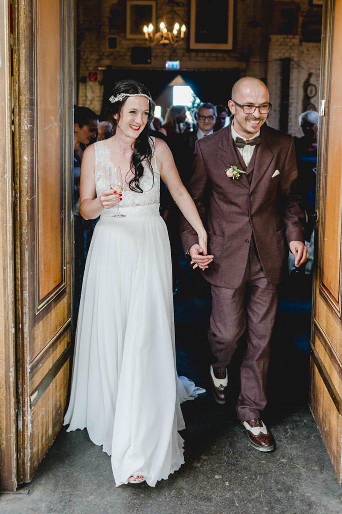 das glückliche Brautpaar im Gare du Neuss