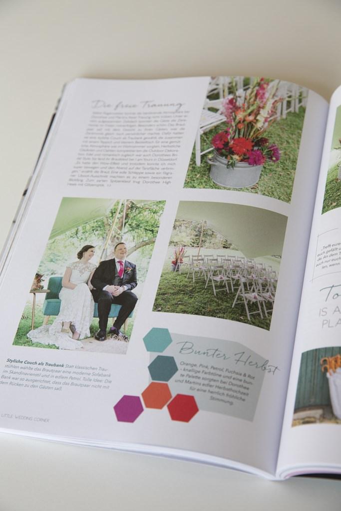 Foto einer Ausgabe des The Little Wedding Corner Magazins