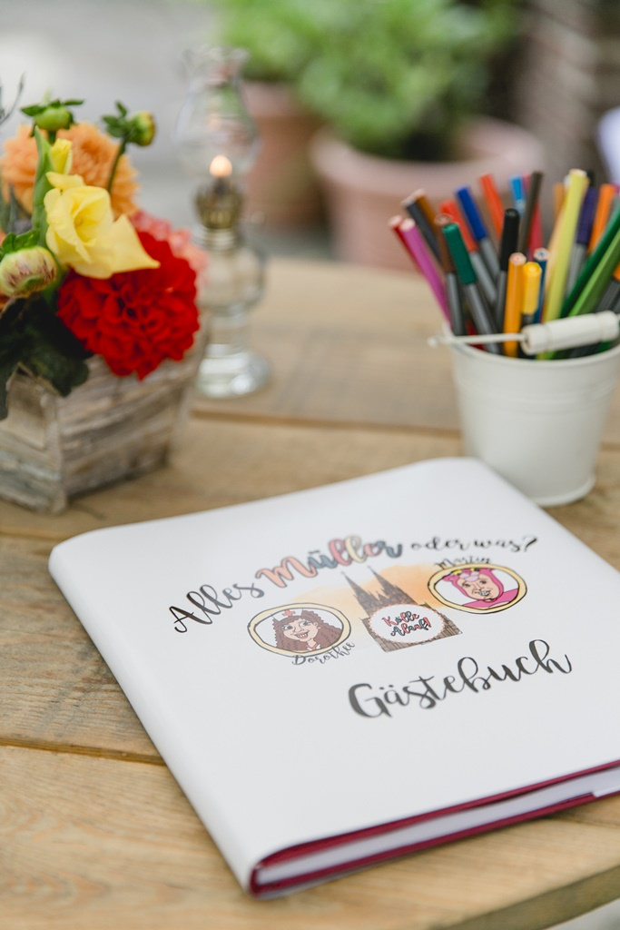 Hochzeitsfoto vom Gästebuch einer Hochzeit
