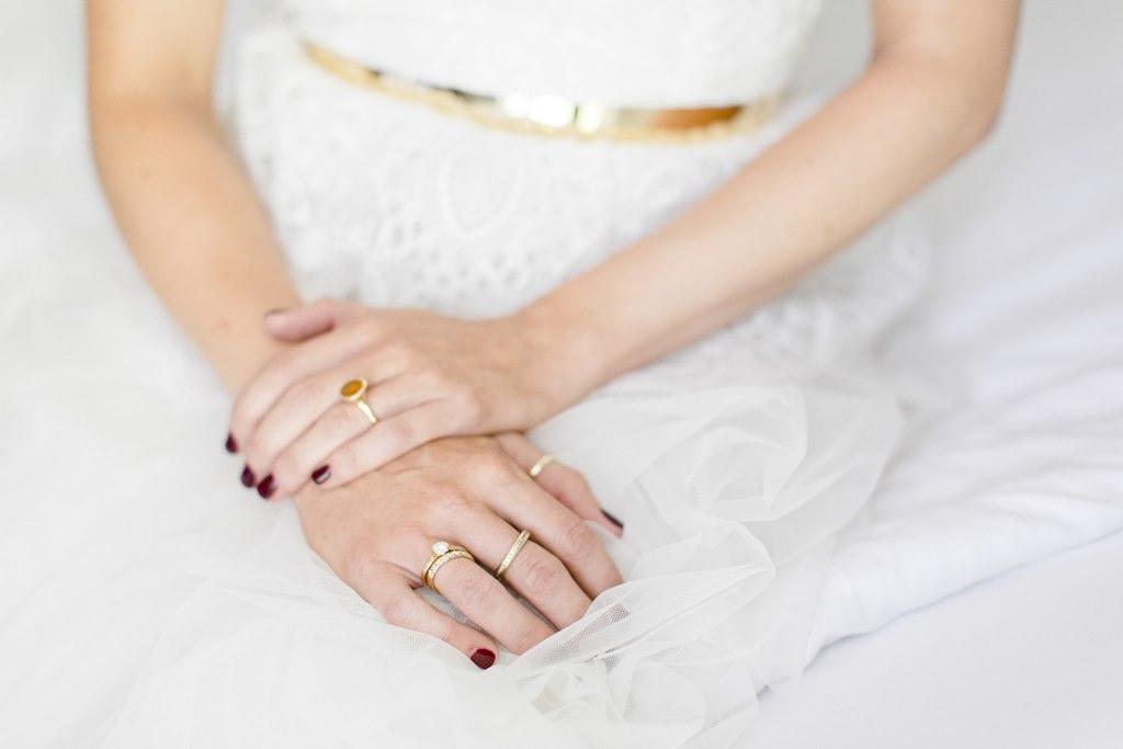 Hochzeitsfoto von der Braut nach dem Getting Ready