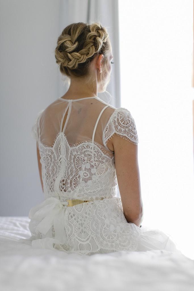 Hochzeitsfoto Rückenansicht Brautkleid