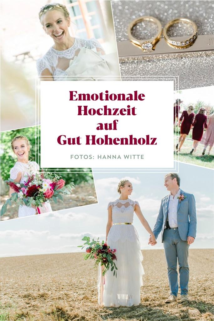 Emotionale Hochzeitsfotos von Braut und Bräutigam bei ihrer Hochzeit auf Gut Hohenholz | Foto: Hanna Witte