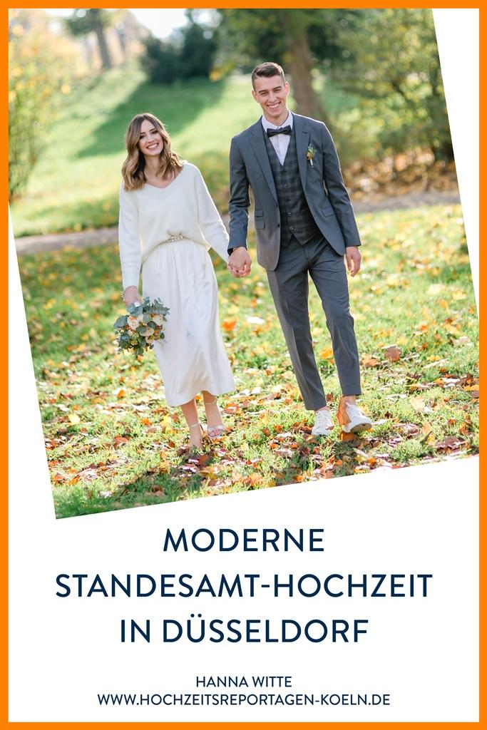 Hochzeitsfotos einer modernen Standesamt Hochzeit in Düsseldorf | Foto: Hanna Witte