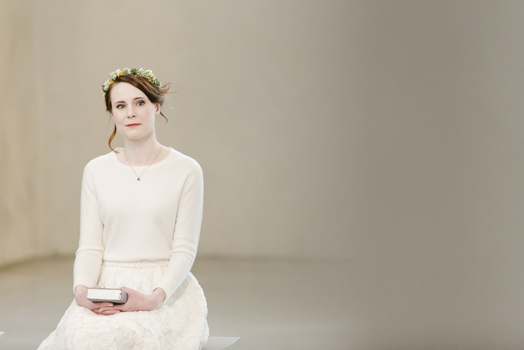 die Braut während der kirchlichen Trauung | Foto: Hanna Witte