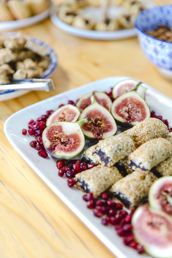 Feigen und orientalisches Fingerfood als Snacks bei einer Hochzeit | Foto: Hanna Witte
